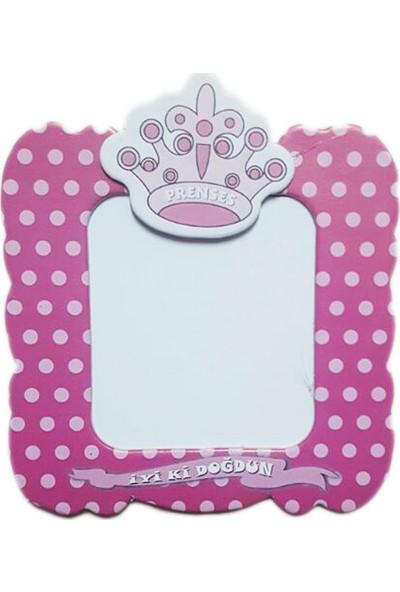 Tahtakale Toptancısı Karton Magnet İyiki Doğdun Prens/ Prenses Taçlı (25 Adet)