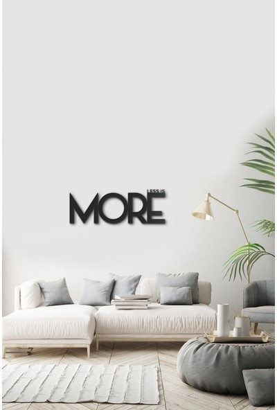 Angemiel Home Less is More Metal Duvar Tablosu Ev Ve Ofis Dekorasyonu Tablo