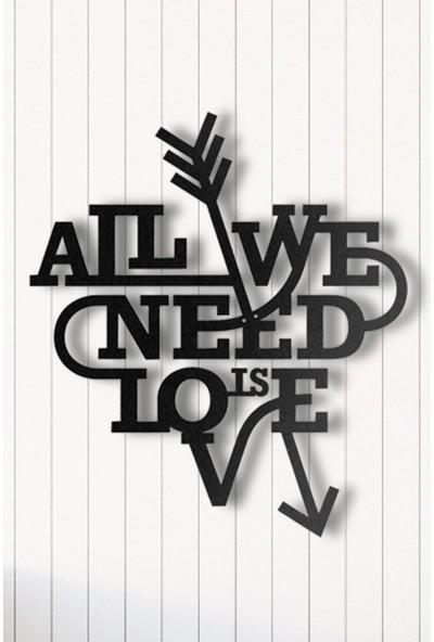 Angemiel Aşk İhtiyaçtır Metal Duvar Tablosu Ev Ve Ofis Dekorasyonu Tablo