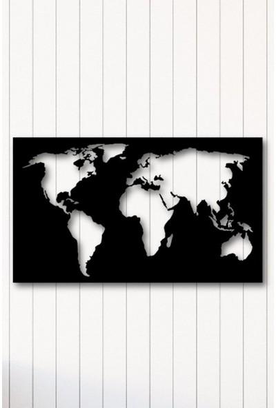 Angemiel Home Dünya Dikdörtgen Metal Duvar Tablosu Ev Ve Ofis Dekorasyonu Tablo