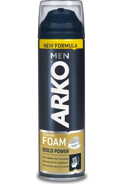 Arko Men Tıraş Köpüğü Gold Power 200 Ml