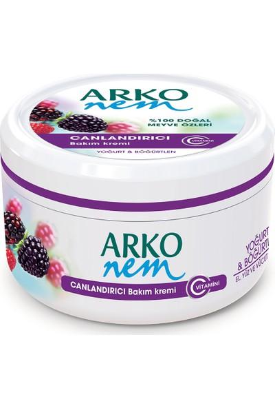 Arko Nem Krem Canlandırıcı Bakım Yoğurt & Böğürtlen 300 Ml