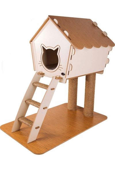 Patihomes Merdivenli Kedi Evi ve Tırmalama