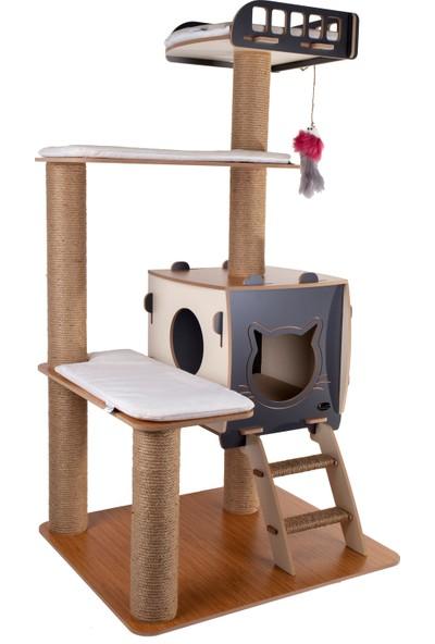 Patihomes Katlı Kedi Evi Tırmalamalı