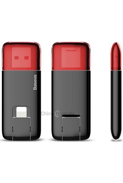 Baseus Red Obsidian 32GB Micro USB Bellek Apple Lightning 2in1 - Kırmızı ACZ1-B19