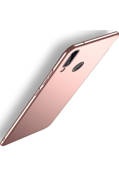 Sunix Huawei P20 Lite İnce Mat Rose Gold Silikon Kılıf + 3D Tam Koruma Cam