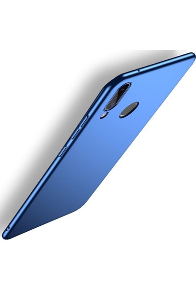 Sunix Huawei P20 Lite İnce Mat Mavi Silikon Kılıf + 3D Tam Koruma Cam