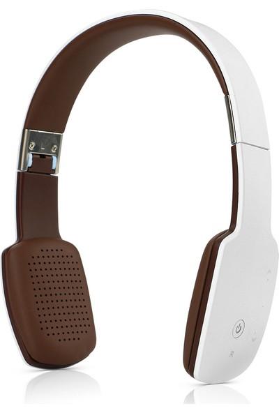 Schulzz 9600 Mini Bluetooth Mikrofonlu Kulaküstü Kulaklık Beyaz