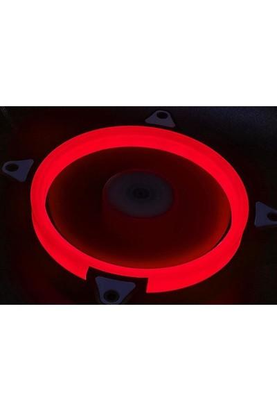 Rampage 4C-15 Kasa Fanı - Kırmızı