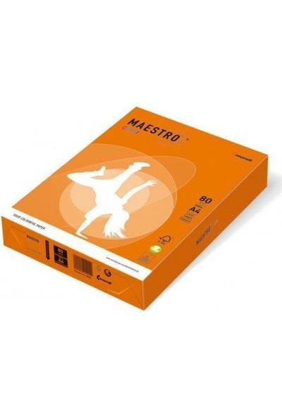 Maestro Color A4 Renkli Fotokopi Kağıdı Turuncu (OR43) 1 Koli (5 Paket 2500 Sayfa)