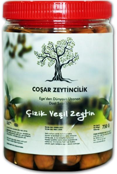 Coşar Zeytin Edremit Çizik Yeşil 750 G (Mega)