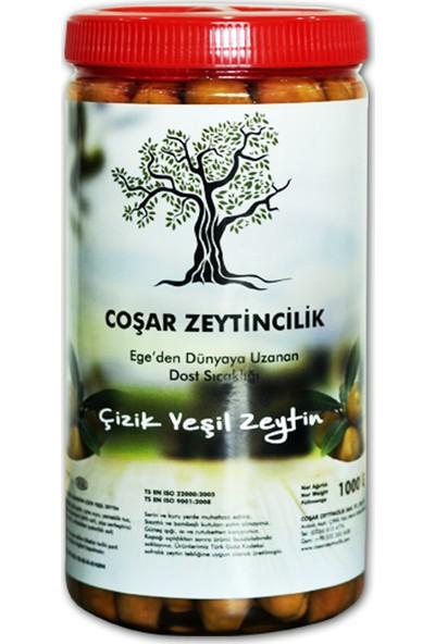 Coşar Zeytin Edremit Çizik Yeşil 1000 G (Mega)