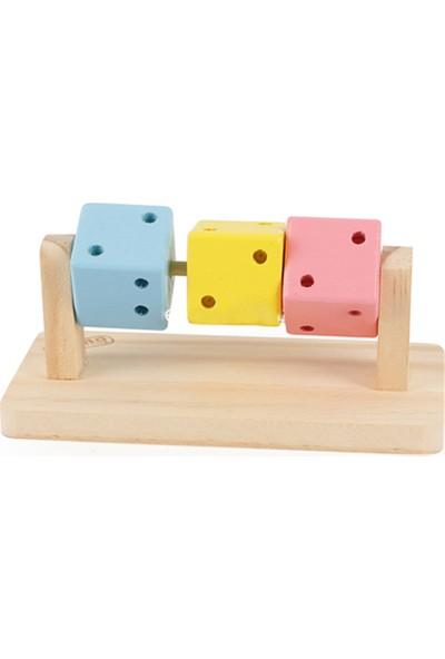 Carno Hamster Oyuncağı Ahşap Küp Üçlü 14 x 7,5 x 6 Cm