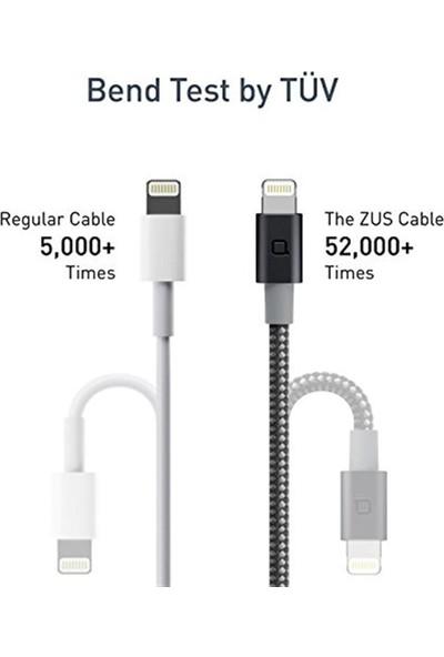 Nonda Zus Carbon Fiber Edition Apple Lightning ve iPad Uyumlu Data ve Şarj Kablosu