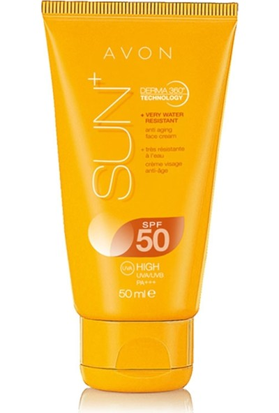 Avon Sun+ Anti Aging Güneş Kremi Spf50