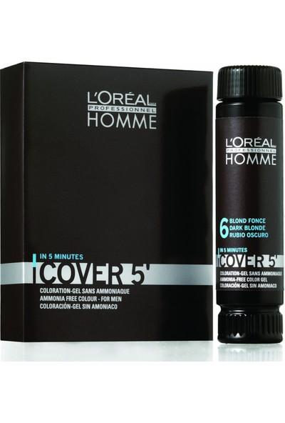 L'Oréal Professionnel Homme Cover 5 Erkekler İçin Amonyaksız Renklendirici Jel 3X50ml