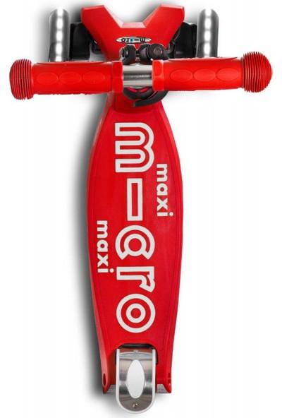 Micro Scooter Maxi Deluxe Işıklı Kırmızı MMD068