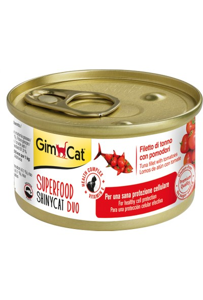 Gimcat Shinycat Tuna Balıklı Domatesli Kedi Konserve 70 gr