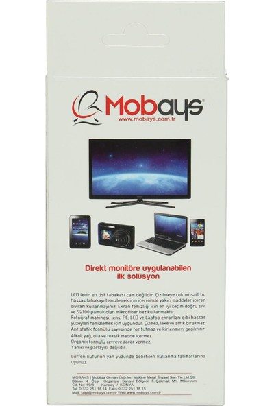 Mobays Ekran - MONİTÖR - TV Temizleme Spreyi - ETS