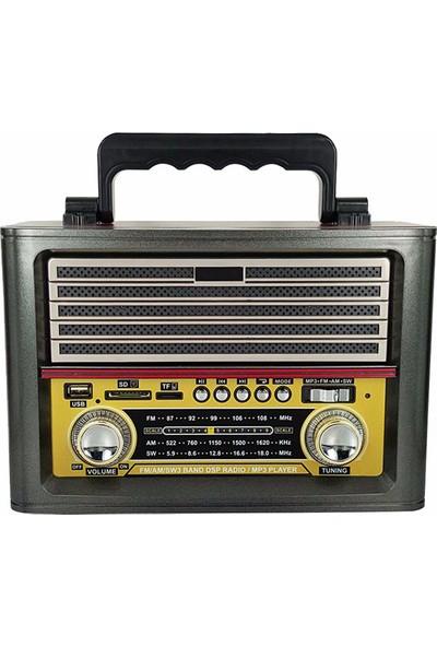Kemai Nostaljik Bluetooth Şarjlı Radyo Mp3 Müzik Çalar Usb Tf 1705
