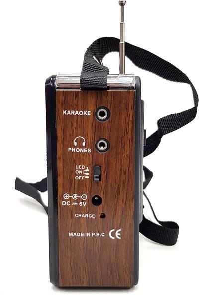 Everton Şarjlı Mikrofonlu Radyo Mp3 Müzik Çalar Usb Tf Aux Vt3059