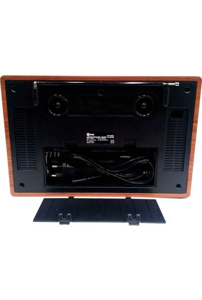 Mega Nostaljik Antika Bluetooth Şarjlı Büyük Boy Radyo Müzik Çalar Usb Sd Aux Mg2002Bt