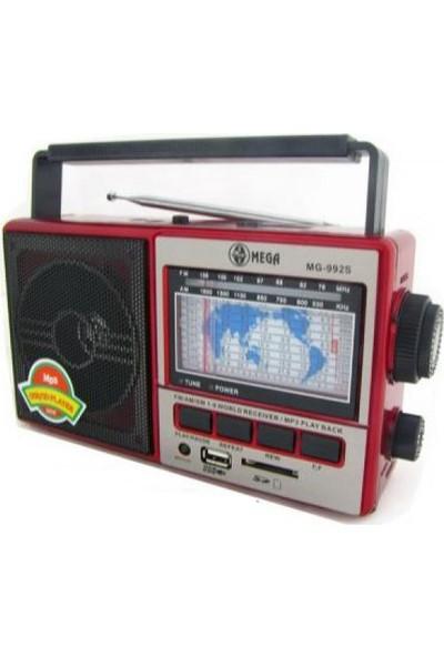 Mega Şarjlı Radyo Mp3 Müzik Çalar Usb Sd Mg992S