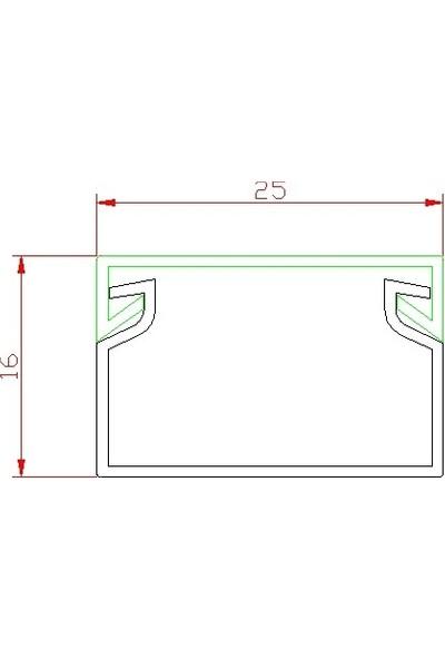 A Plus Elektrik Kablo Kanalı 25x16 Yapışkan Bantlı