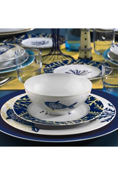 Kütahya Porselen Marine Serisi 24 Parça 6 Kişilik Yemek Takımı 9347 Desen
