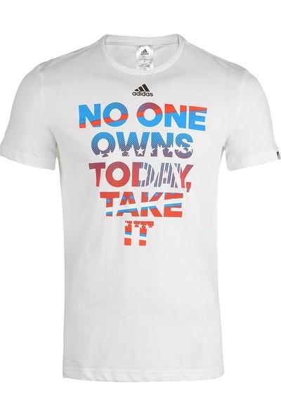 Adidas Take It Unisex Beyaz T-Shirt AH8725