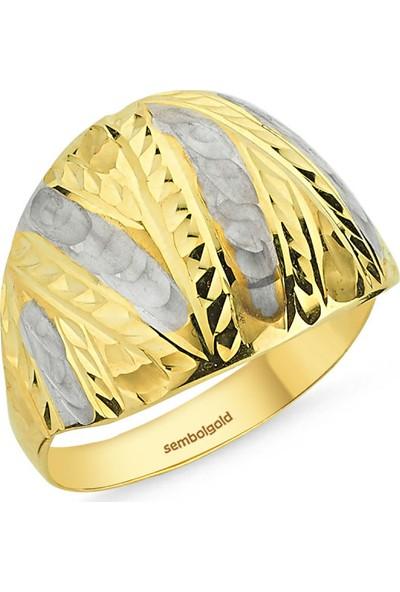 Sembolgold Altın Yüzük Taşsız 14 Ayar Fantazi Modeli Sg42-0183334