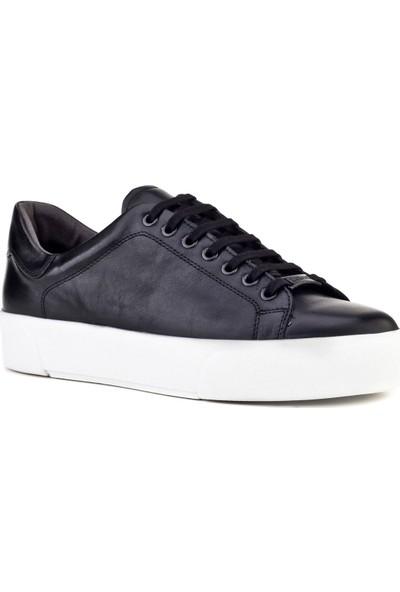 Cabani Bağcıklı Sneaker Kadın Ayakkabı Siyah Analin Deri