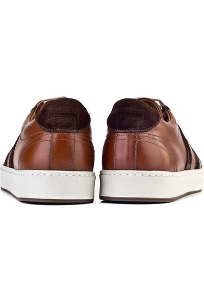Cabani Bağcıklı Şerit Detaylı Sneaker Erkek Ayakkabı Taba Süet