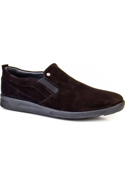 Cabani Bağcıksız Günlük Erkek Ayakkabı Kahve Antilop Deri