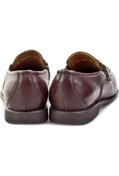 Cabani Kemerli Günlük Erkek Ayakkabı Kahve Floter Deri