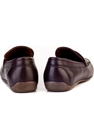Cabani Loafer Günlük Erkek Ayakkabı Kahve Floter Deri