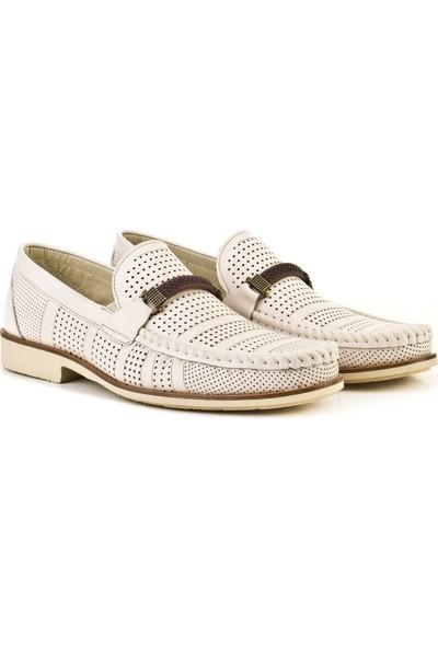 Cabani Loafer Günlük Erkek Ayakkabı Bej Deri