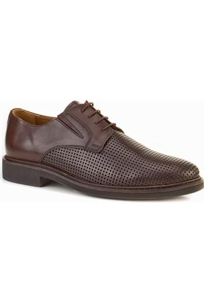 Cabani Oxford Günlük Erkek Ayakkabı Kahve Flap Deri
