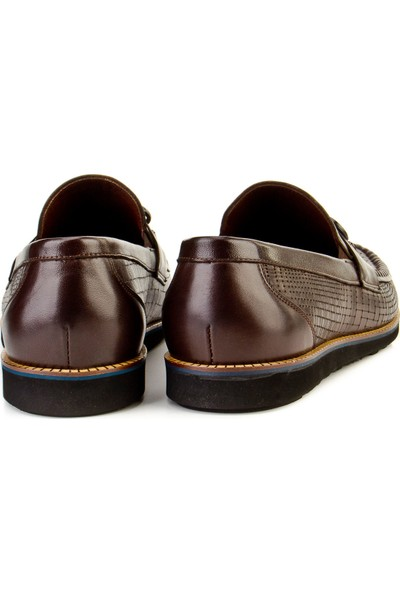 Cabani Loafer Günlük Erkek Ayakkabı Kahve Soft Deri