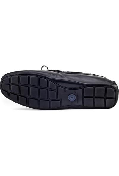 Cabani Loafer Günlük Erkek Ayakkabı Siyah Analin Deri