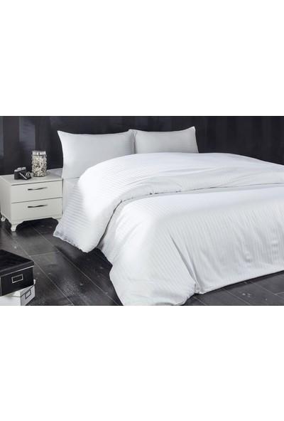 Komfort Home Çift Kişilik Çizgili Pamuksaten Uyku Seti 200X220Cm