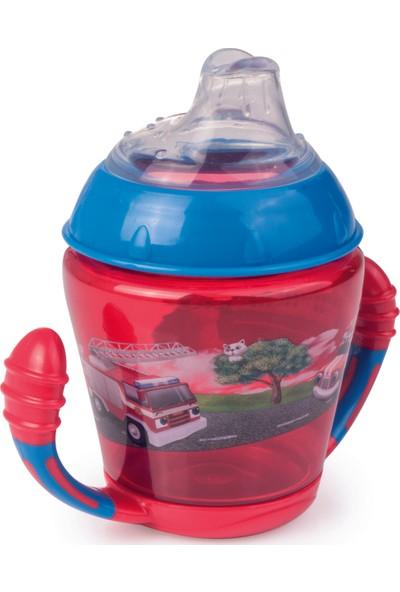 Canpol Babies Happy Vehicles & Forest Friends Collection Bpa'sız Damlatmaz Alıştırma Bardağı İtfaiye 9+ Ay 230 ml