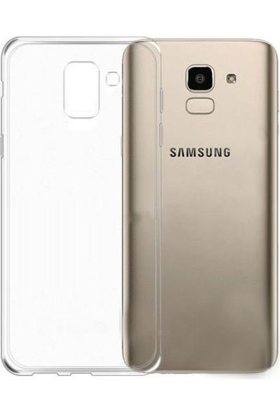 Case 4U Samsung Galaxy J6 Kılıf Silikon Arka Kapak -Şeffaf
