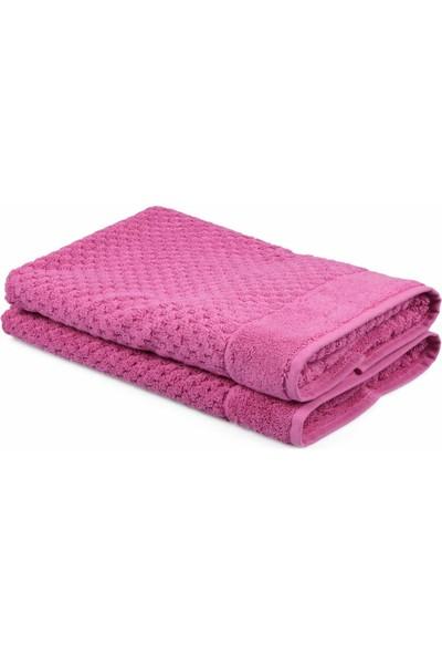 Eponj Home Polo Banyo Paspası Seti 50 x 80 Bath Towel Fuşya