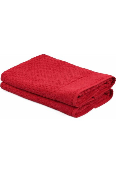 Eponj Home Polo Banyo Paspası Seti Blackberry 50 x 80 Kırmızı