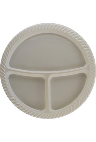 Tahtakale Toptancısı 3 Bölmeli Plastik Tabldot Tabak 26 CM (25 Adet)