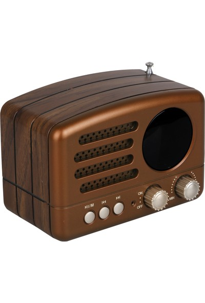 Kamal Km 162 Nostaljik Dekoratif Bluetooth Usb Sd Fm Am Sw 3 Band Radyo