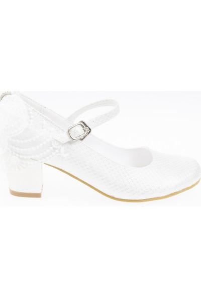 Soobe Kız Çocuk Abiye Ayakkabı Beyaz