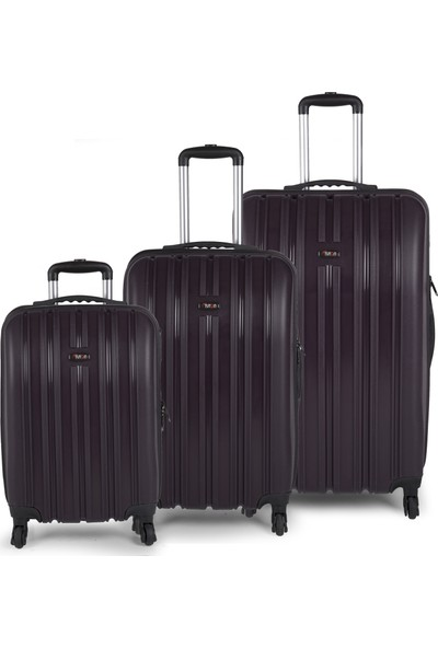 TUTQN Kırılmaz 3'lü Valiz Set Safari