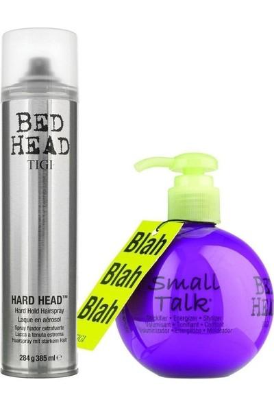 Tigi Small Talk 200 ml + Hard Head Ekstra Güçlü Sprey 385 ml